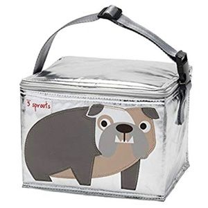3 Sprouts Silver Lunch Bag/Cooler — pitbull